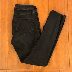 H&M faded black jeans